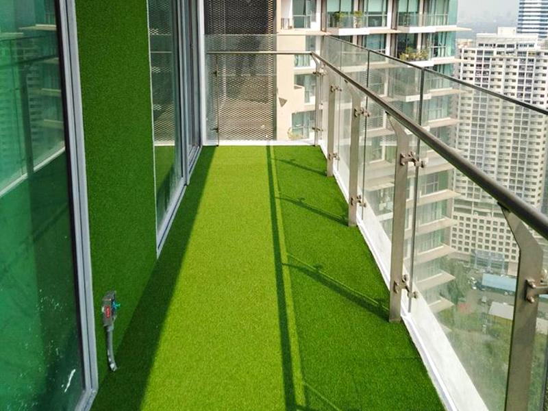 หญ้าเทียมแต่งคอนโด The Pano พระราม 3