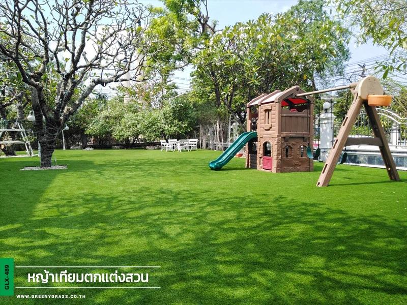 จัดสวนหญ้าเทียมระดับพรีเมียม หมู่บ้านชิชา