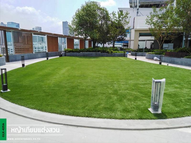 สนามหญ้าเทียมบนดาดฟ้า โรงพยาบาล