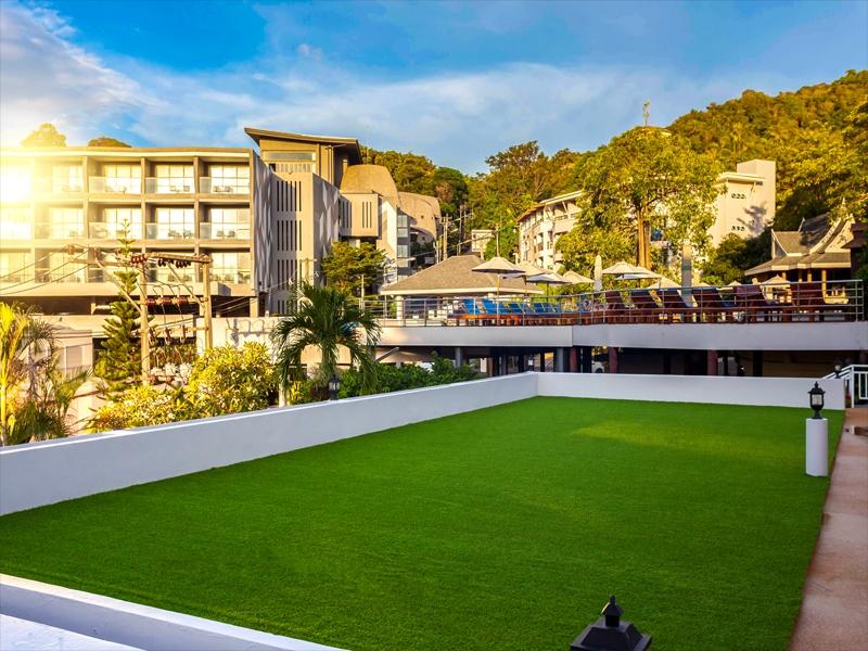 ระเบียงหญ้าเทียม โรงแรมออร์คิดเดเซีย ภูเก็ต