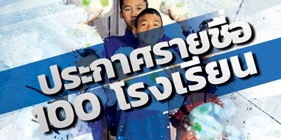 ประกาศรายชื่อโรงเรียน 100 แห่ง (โครงการแจกบอลให้น้อง)