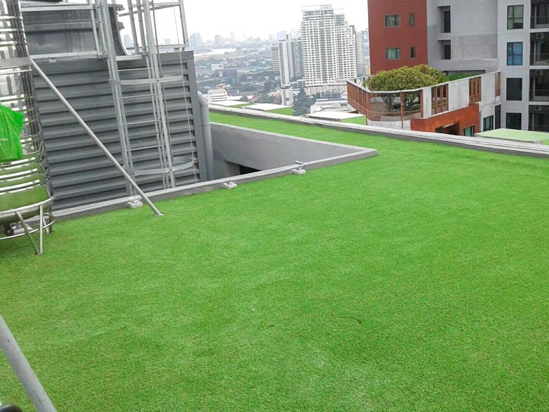 ติดตั้งหญ้าเทียมบนดาดฟ้า ไอบิส สไตล์แบงคอก
