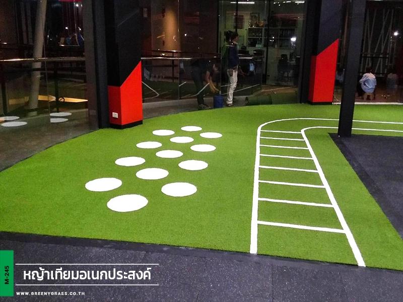 พื้นหญ้าเทียมสำหรับฟิตเนส Amatio Chill Park