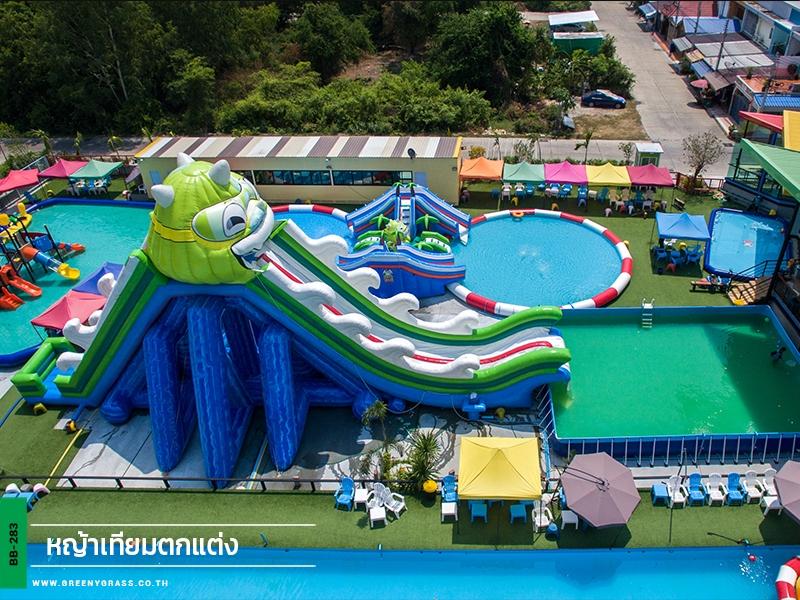 หญ้าเทียมสำหรับสวนน้ำ Dragon water park