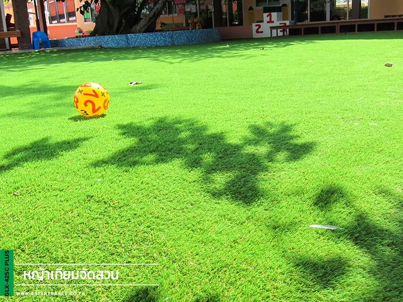 สนามเด็กเล่นหญ้าเทียม เอิร์ล เฌอแตม เนอสเซอรี่ (ลูกค้าติดตั้งเอง)