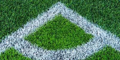 เส้นขาว สนามฟุตบอลหญ้าเทียม
