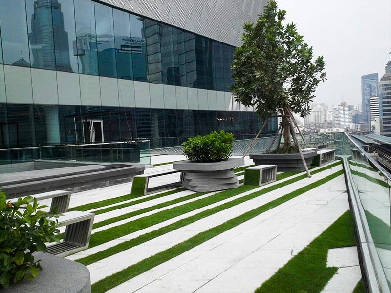 หญ้าเทียมตกแต่งโรงแรม Central Embassy