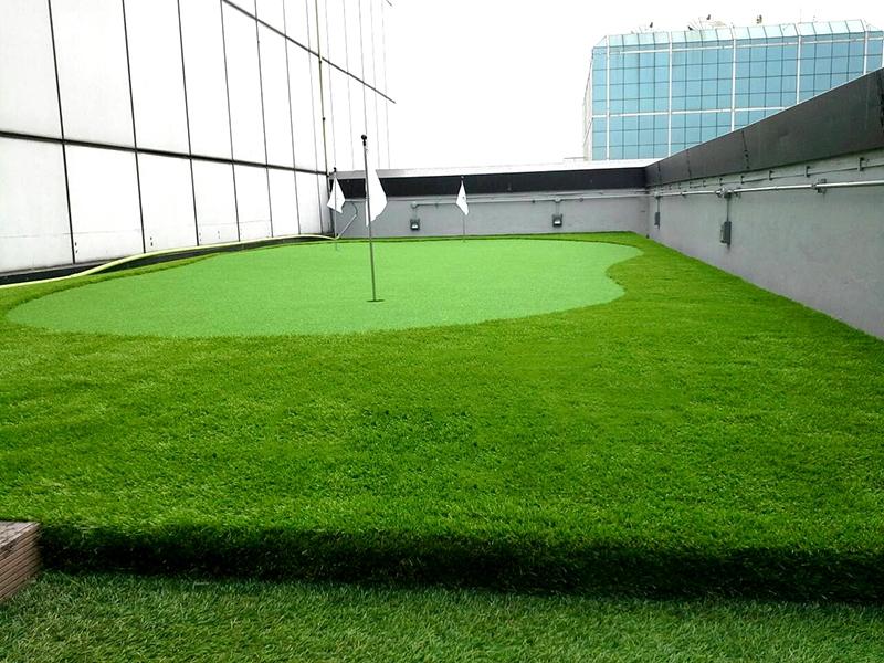 สนามกอล์ฟหญ้าเทียม บริษัทเมืองไทยประกันชีวิต