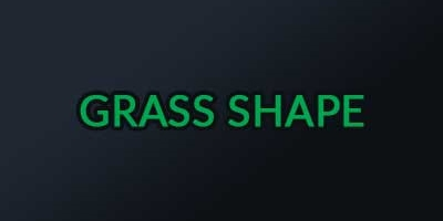 รูปทรงของใบหญ้าเทียม (Shape) สนามฟุตบอล