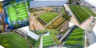 รวมภาพมุมสูงสวยๆ จากสนามฟุตบอลหญ้าเทียม ทั่วประเทศ