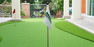 กรีนซ้อมพัตต์ - กอล์ฟ ออกแบบติดตั้ง โดยหญ้าเทียมกรีนนี่