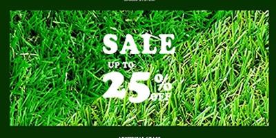 โปรโมชั่น หญ้าเทียมกรีนนี่ราคาพิเศษ เดือนกุมภาพันธ์ 59