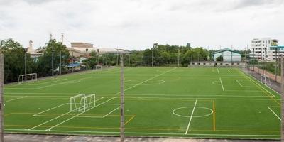 ผลงานสร้างสนามฟุตบอลหญ้าเทียม จังหวัดสมุทรสงคราม
