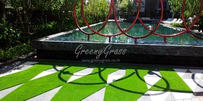 จัดสวนสวยด้วยหญ้าเทียม / คอนโด เนทูเรซ่า พัทยา