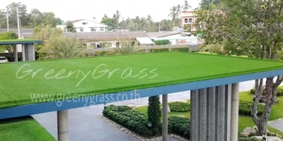 ตกแต่งดาดฟ้าด้วยหญ้าเทียม โรงแรมเดอะ ตะมะ อำเภอเมือง กระบี่