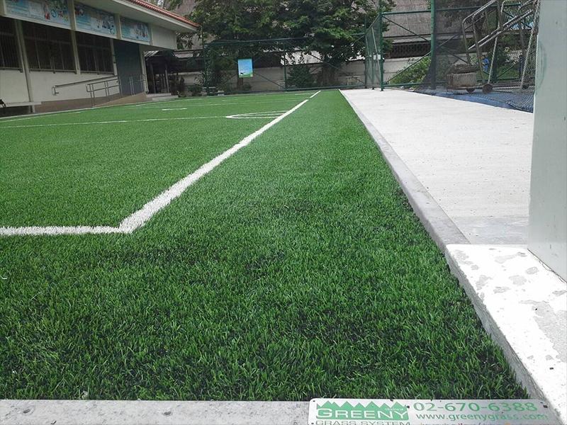 สนามตะกร้อหญ้าเทียม โรงเรียนวัดนินสุขาราม