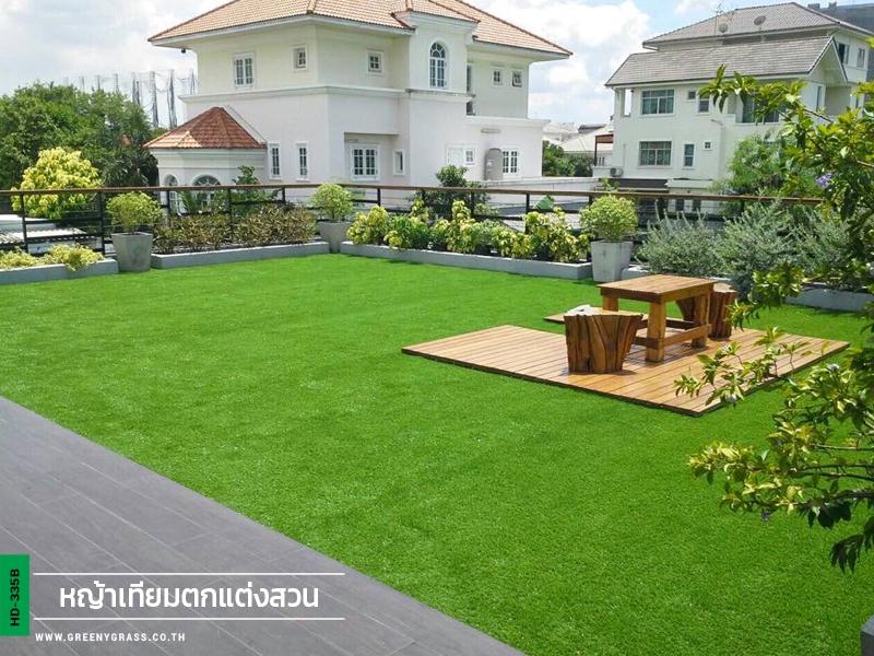 จัดสวนหญ้าเทียมบนระเบียง งามวงศ์วาน43