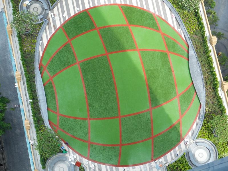 หญ้าเทียมตกแต่ง คอนโด EQUINOX พหลโยธิน