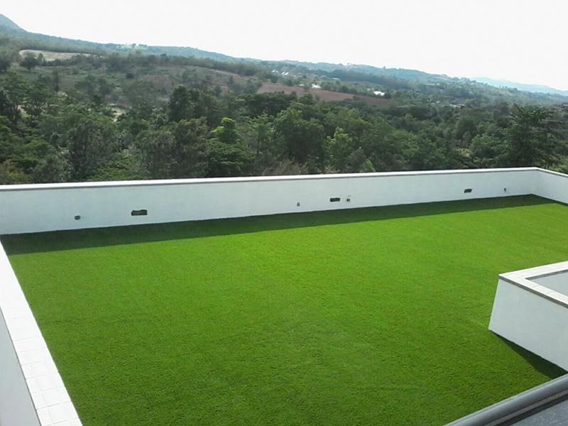 หญ้าเทียมตกแต่ง รีสอร์ทซองซูซี เขาใหญ่