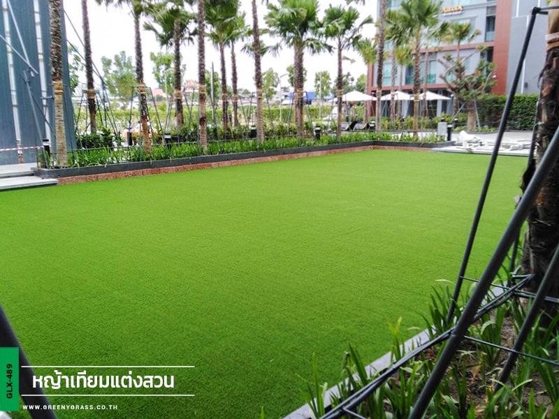 แต่งสวนหญ้าเทียม AisanA Hotel Korat