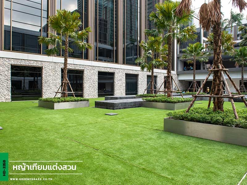 แต่งสวนด้วยหญ้าเทียม Four seasons private residences
