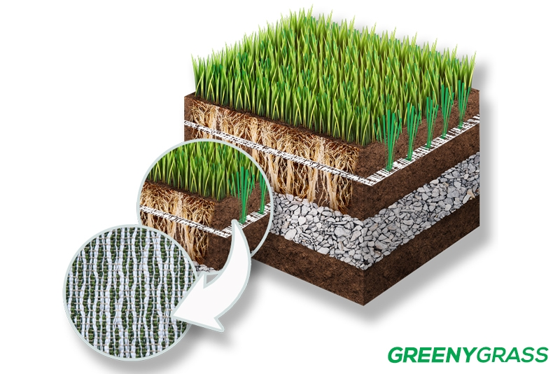 หญ้าเทียมผสม
