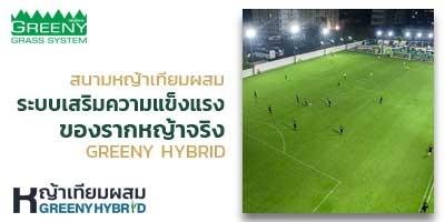 สนามฟุตบอล ระบบหญ้าเทียมผสม Greeny Hybrid แห่งแรกในประเทศไทย