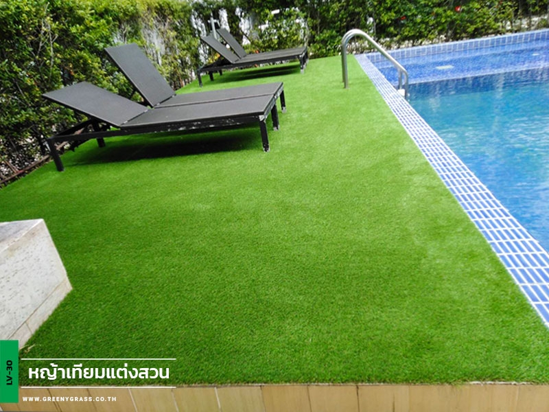 สนามหญ้าเทียมริมสระว่ายน้ำ เดอะนิช ไอดี บางแค เฟส 1