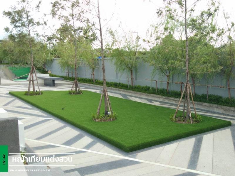 ติดตั้งหญ้าเทียม หมู่บ้านภัททา วิลล์ จ.ชลบุรี
