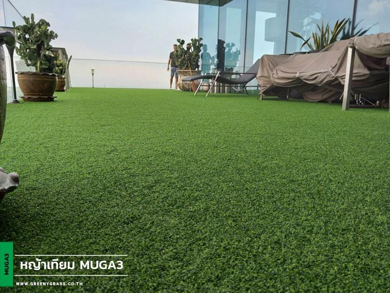ติดตั้งหญ้าเทียมริมระเบียง KING POWER MAHANAKHON