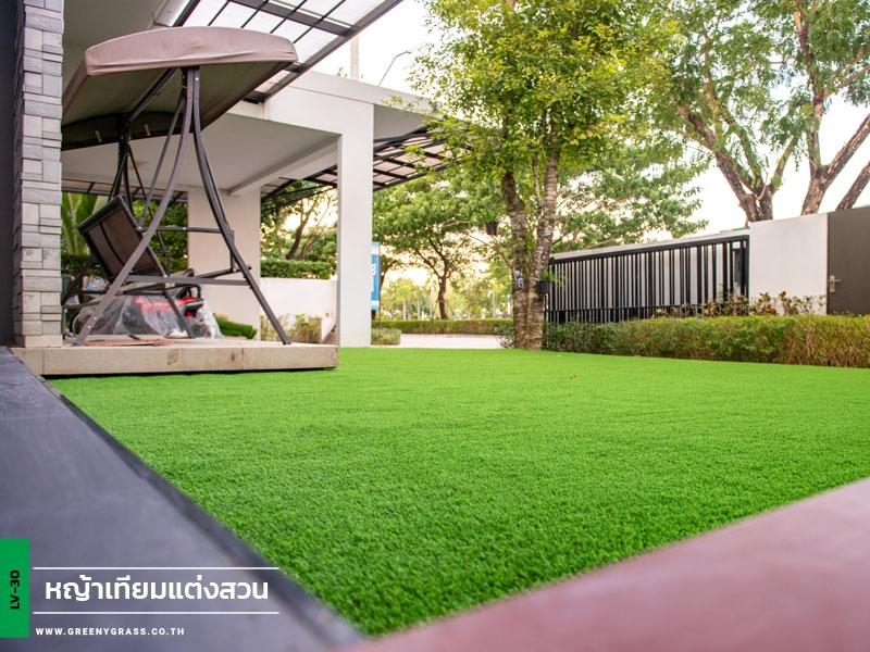 ติดตั้งหญ้าเทียม หมู่บ้านมัณฑนา วงแหวน-บางบอน