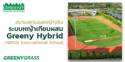 สนามฟุตบอลหญ้าจริง (ระบบหญ้าเทียมผสม) ขนาด 11 คน
