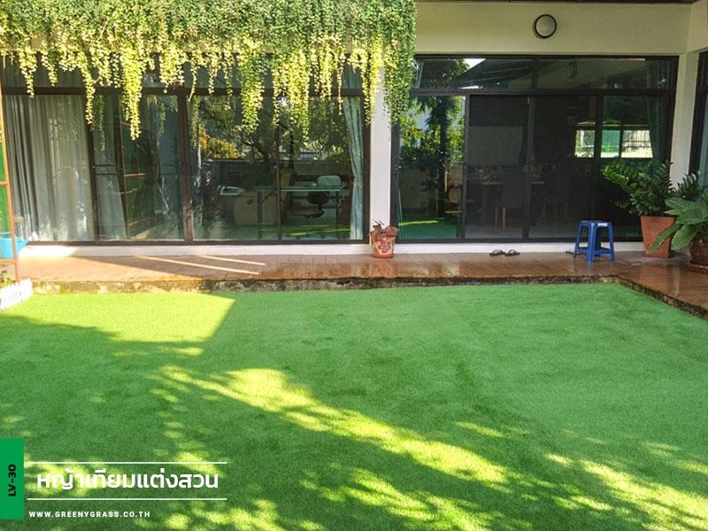 ตกแต่งหญ้าเทียม บ้านพักย่าน ซ.ประชาชื่น14