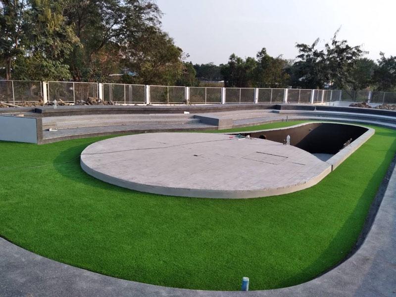 ติดตั้งหญ้าเทียม โรงปรับปรุงคุณภาพน้ำ เทศบาลนนทบุรี