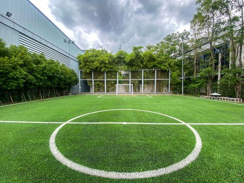 ติดตั้งหญ้าเทียมสนามฟุตบอล Thai PBS
